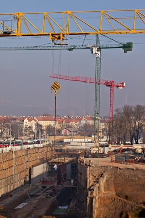 Construction of connection under the urban area