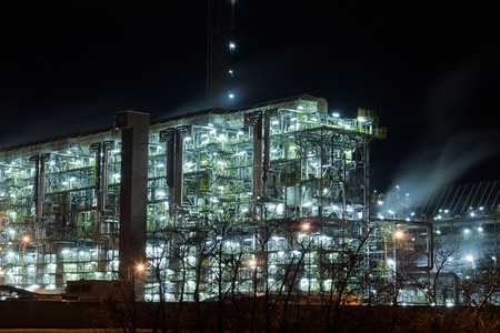 Device for chemical production at night Stock Photo - 13512871