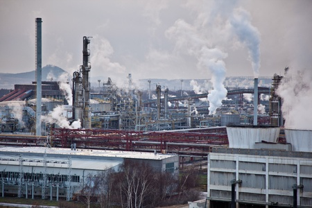 rafinery: Industrial landscape - chemical production complex