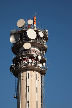 Telecommunications tower for tv and mobile phone signals