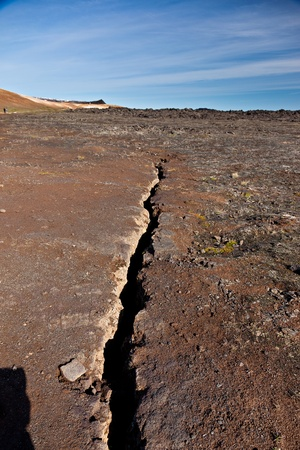 Fracture line in the earth photo