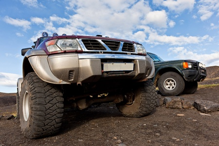 off track: Off road car for the hard terrain Stock Photo