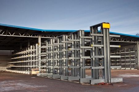 Huge store with empty racks