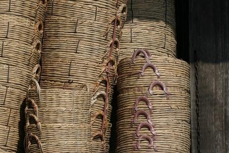 Bamboo basket at the asian market Stock Photo - 13573142