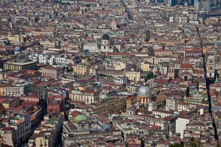 Aerial view of Napoli historic centre photo