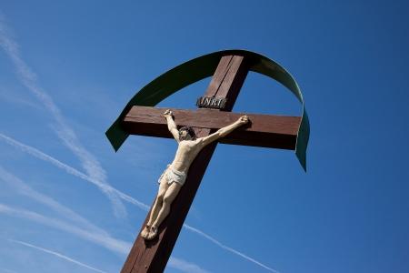 christus: Jesus Christus on wood cross