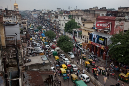 Main street of Old Delhi Chadni chowk