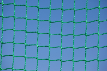 Goal net close-up photo