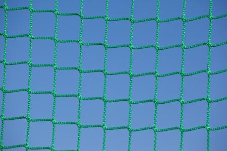 Goal net close-up