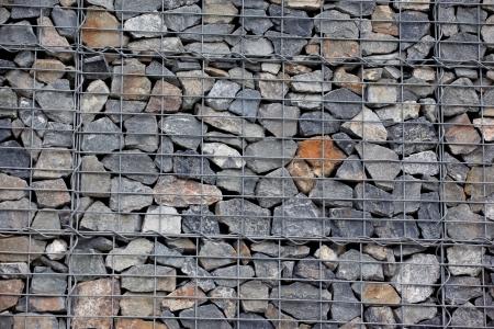gabion: Steel mesh of gabion wall