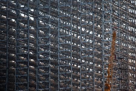 coate: Detail of steel members rack construction