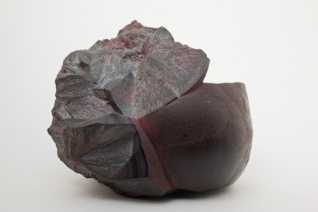 Hematite- Fe2O3- important iron ore, contains 70  of iron Stock Photo