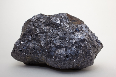 plumbum: Galena - PbS, important ore of lead and silver