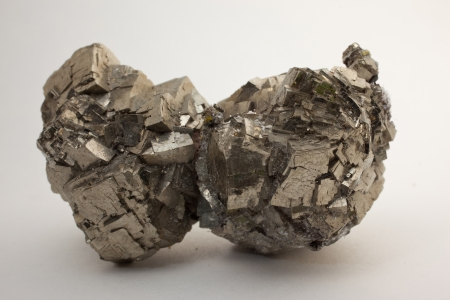 source of iron: Pyrite - FeS2- source of iron and sulphur,
