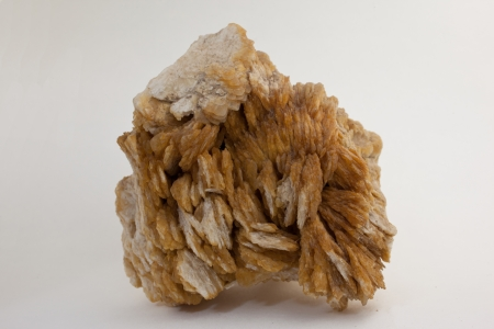 Baryte - source of baryum and important industrial mineral Stock Photo