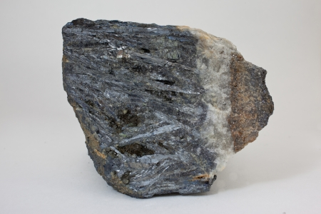 Antimonite - ore of antimony, part of ore vein
