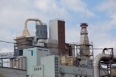 Factory for chemical production detergents photo