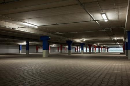 parked: Floor at underground parking lot