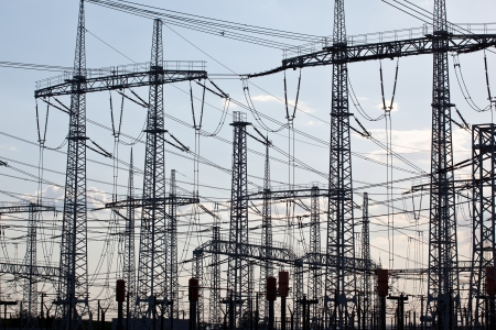 electric utility:  electricity distribution pylons