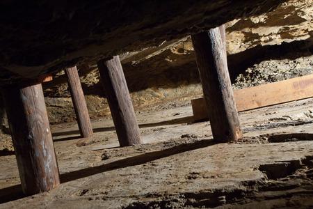 gold mine: Excavated gold bearing vein in mine
