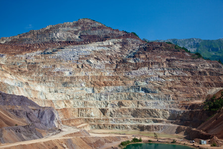 Largest iron europe open mine pit