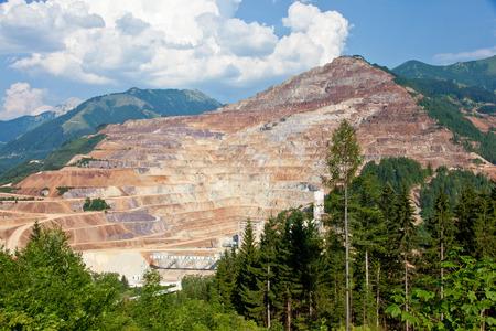 Iron ore open mine pit
