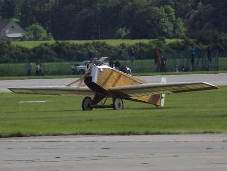 avia: Avia B H 1 replica at the airport in Pardubice