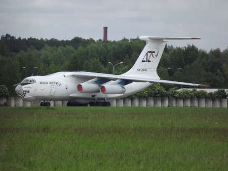 td: Ilyushin IL76 TD at the airport in Pardubice Editorial