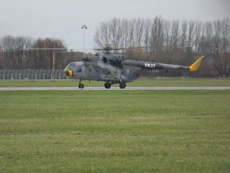 helicopter Mi17 at the airport in Pardubice
