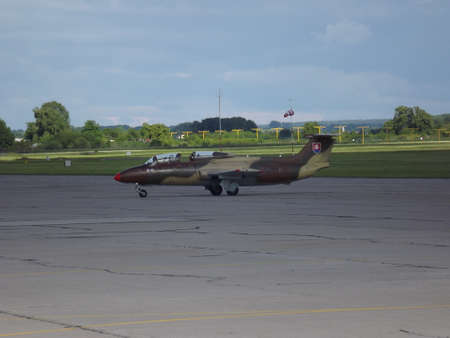 aeroplan L-29 Delfin Aviation fair in Pardubice