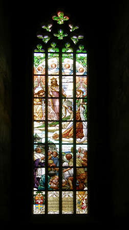 Window Church of St  Barbara in Kutna Hora