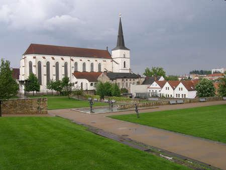 exaltation: Church of the Exaltation of the Cross in  Litomysl