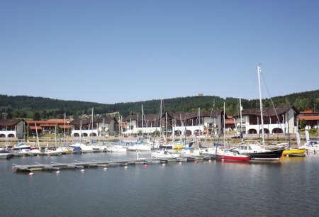 lipno: Boat dock at Lipno