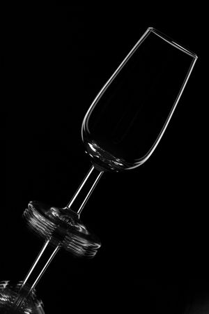 sherry: a glass for wine tasting typical for Spanish sherry wine Stock Photo