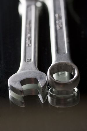 two tools of different type nut release Stock Photo