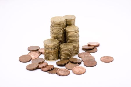 piles of coins shaped tower, represented real estate investment Stock Photo - 6413210