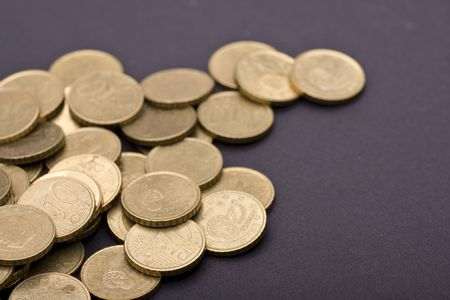 Several coins of ten, twenty and fifty cents Stock Photo - 6462606