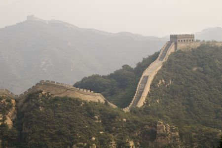 the Great Wall of China viewed from one of its towers