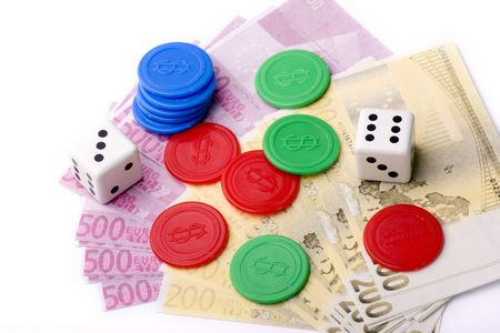bets: number of tickets won in a craps bets