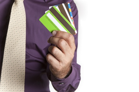 a man with multiple cards in your hand chalk Stock Photo - 8336352