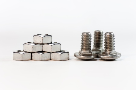 several screws and nuts together Stock Photo - 9504676
