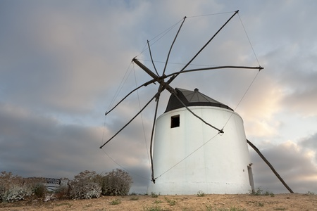 an old mill located in the town of Vejer