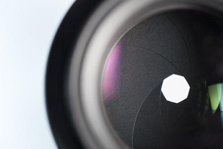 A camera lens reflex photography Standard-Bild
