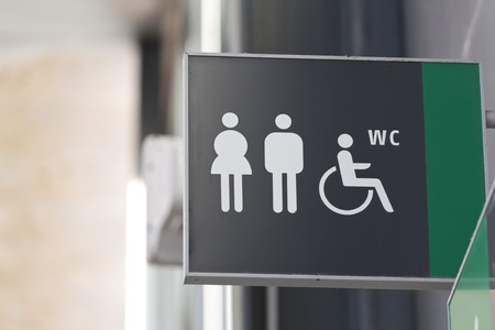disabled access: a public toilet with disabled access