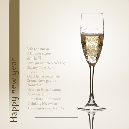 congratulating a glass of champagne parties in several languages
