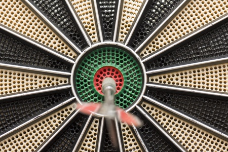 a magnificent darts right in the center Stock Photo