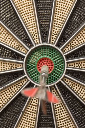 reveille: a magnificent darts right in the center Stock Photo