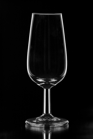 sherry: a small sherry glasses, especially for testing sherry Stock Photo