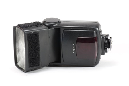 ttl: a black flash with TTL technology Stock Photo
