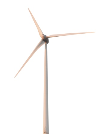 generates: a windmill that generates electricity, isolated